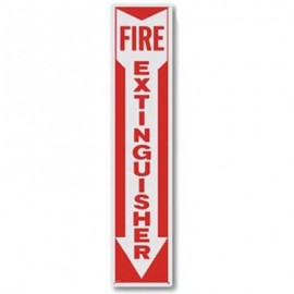 Brooks Fire Extinguisher Arrow Signs - 4 in x 18 in