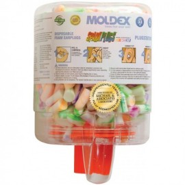 Moldex SparkPlug Earplugs 6645 Uncorded Plugstation Dispenser (500 Pairs/Dispenser)