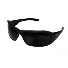 Edge Eyewear XB136 Brazeau Torque  Matte Black Frame with Red Edge Logo  Smoke Lens