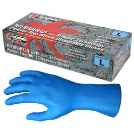 MCR 6018 - NitriShield® with Grippaz™ Technology, Blue Nitrile, 8 mil, 12 inch 10 Boxes/Case