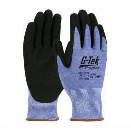 PIP 16-635/S G-Tek Seamless Knit PolyKor Blended Glove with Nitrile Coated MicroSurface Grip on Palm & Fingers Small 6 DZ