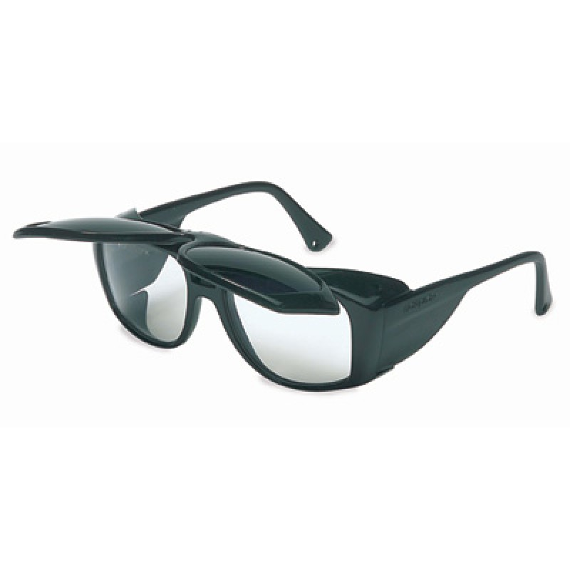 Horizon Safety Glasses with Cobalt Blue Flip-Up Lens