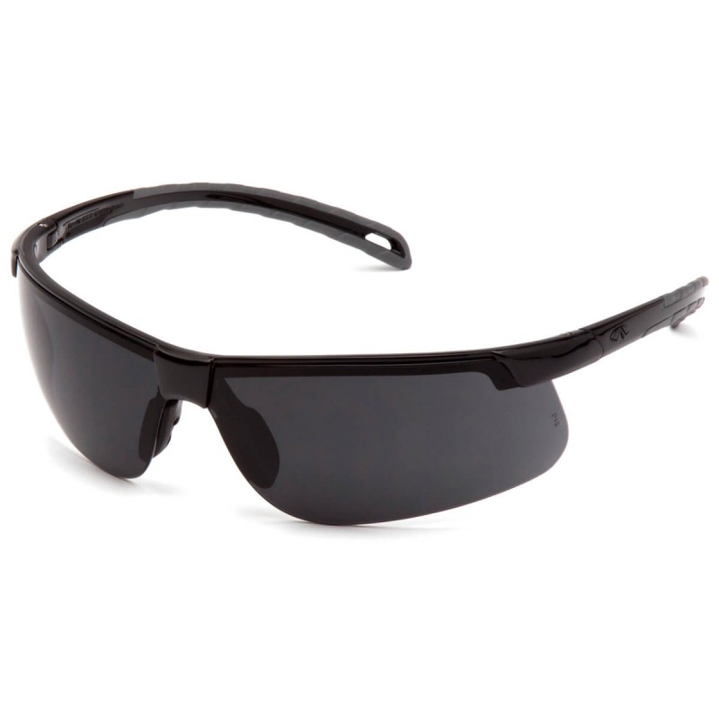 Pyramex Safety - Ever-Lite - Black Frame/Dark Gray Lens Polycarbonate Safety Glasses - 12 / BX