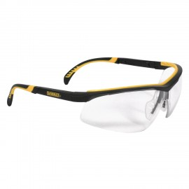 DEWALT DC - Clear Lens Safety Glasses Half Frame Style Black Color - 12 Pairs / Box