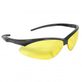 Radians Rad-Apocalypse - Amber Lens Safety Glasses Half Frame Style Black Color - 12 Pairs / Box