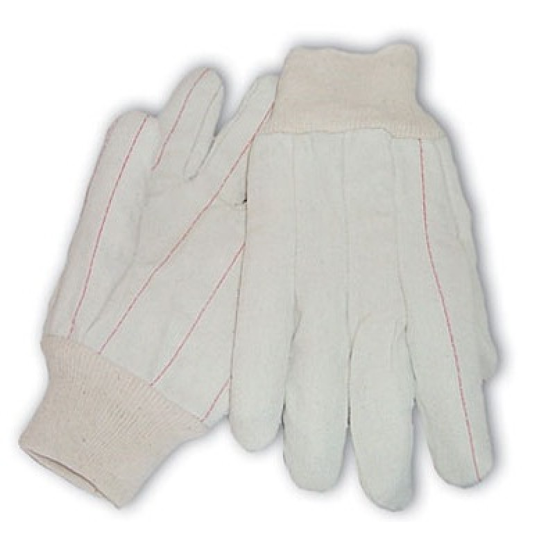 PIP Cotton Canvas Double Palm Glove with Nap-in Finish - Knitwrist  12 Pairs
