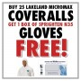 Buy 25 Lakeland MicroMax Coveralls - Get 1 FREE Box of Sprighten N35 Blue Nitrile Gloves
