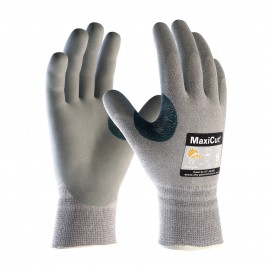 PIP ATG 19-D470 MaxiCut Gloves - ANSI A4 EN 5 with Dyneema - Nitrile Micro-Foam - Gray Color (1 DZ)