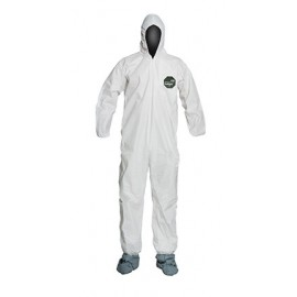 DuPont™ ProShield 50®  NB122S Microporous Film Hooded Coveralls White (1/EA)