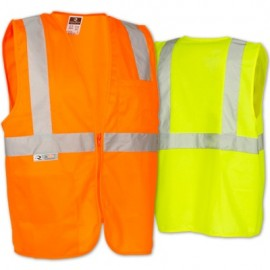 Radians SV2Z SV2ZGS SV2ZOS Safety Vest Class 2 - Economy Solid with Zipper (1 EA)