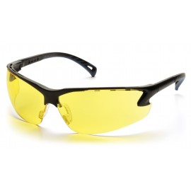 Pyramex Safety - Venture 3 - Black Frame/Amber Lens Polycarbonate Safety Glasses - 12 / BX
