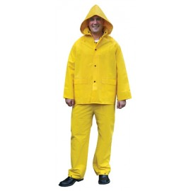 MCR River City Classic, .35mm PVC/Polyester 3 Piece Rain Suit Yellow Color (1 Each)
