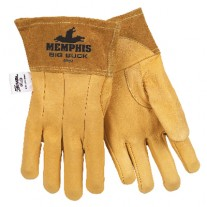 MCR Memphis Gloves Big Buck Mig/Tig Welding Gloves 12 Pair Color Brown