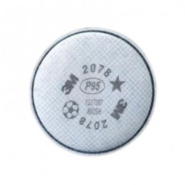 3M™ Particulate Filter 2078, P95, with Nuisance Level Organic Vapor/Acid Gas Relief (1 Pair)