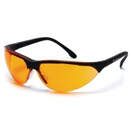 Pyramex Safety - Rendezvous - Black Frame/Orange Lens Polycarbonate Safety Glasses - 12 / BX
