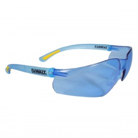 DEWALT Contractor Pro - Light Blue Lens Safety Glasses Frameless Style Light Blue Color - 12 Pairs / Box