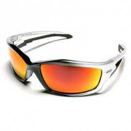 Edge Kazbek Safety Glasses - Aqua Precision Red Mirror Lens