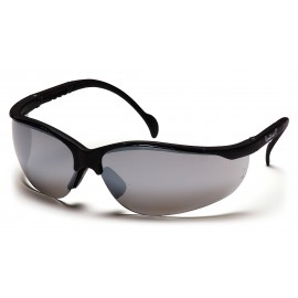 Pyramex Safety - Venture II - Black Frame/Silver Mirror Lens Polycarbonate Safety Glasses - 12 / BX