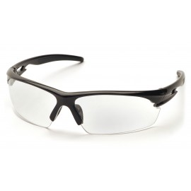 Pyramex  Ionix  Black Frame/Clear AntiFog Lens  Safety Glasses  12/BX