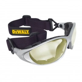 DEWALT Framework Low IR Anti-Fog Lens Safety Glasses Full Frame Style Silver Color - 12 Pairs / Box
