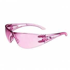 Radians Optima - Pink - PINK TEMPLES Safety Glasses Frameless Style Pink Color - 12 Pairs / Box
