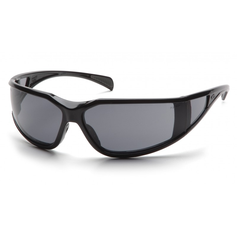 Pyramex Safety - Exeter - Glossy Black Frame/Gray Anti-Fog Lens Polycarbonate Safety Glasses - 12 / BX