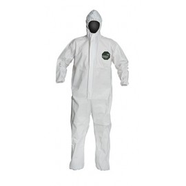 DuPont™ ProShield 50 NB127S Microporous Film Hooded Coveralls White 1/EA