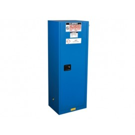 Justrite Sure Grip EX Slimline Hazardous Material Safety Cabinets 22 GALLON 1 Self Close Door Royal Blue