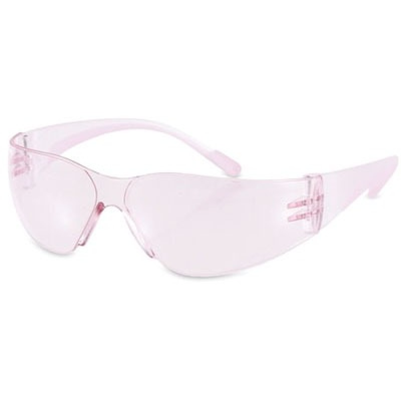 EVA Women's Petite Safety Glasses with Pink Lens (144 PR)