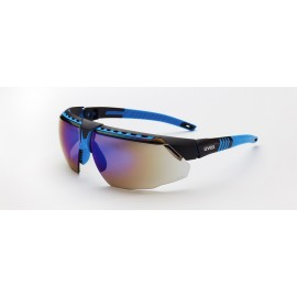 Honeywell S2873 Uvex Avatar Blue/Black Frame Blue Mirror Lens Anti-Scratch Hard Coat 10/Box