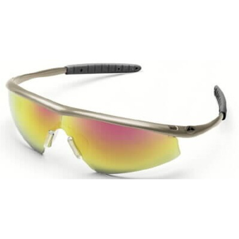 Tremor Safety Glasses with Taupe Frame and Fire Mirror Lens (Box of 6)