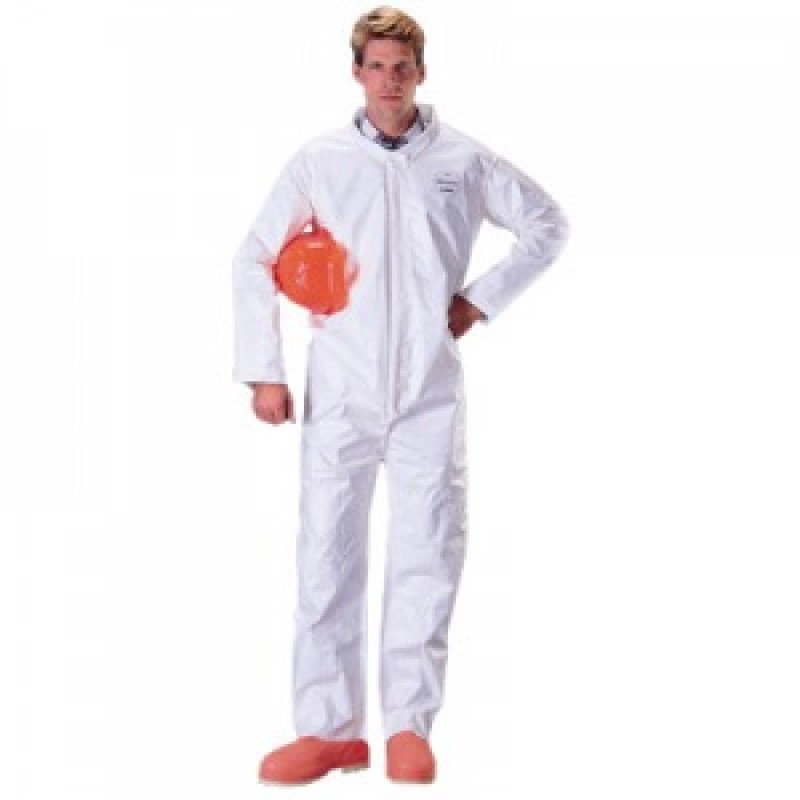 DuPont™ Tychem SL120B  Coveralls - Bound Seams Color White 12/Case