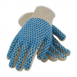 Seamless Knit with Double-Sided PVC Brick Pattern Grip - 7 Gauge 12 Pairs