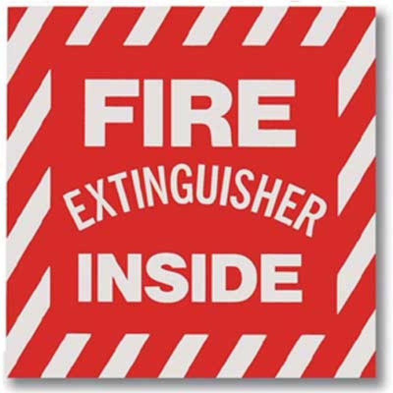 Brooks Fire Extinguisher Inside Sign