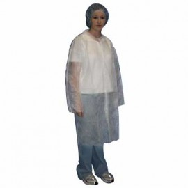 Malt Industries Polypropylene Lab Coat, Blue or White (Case of 30)