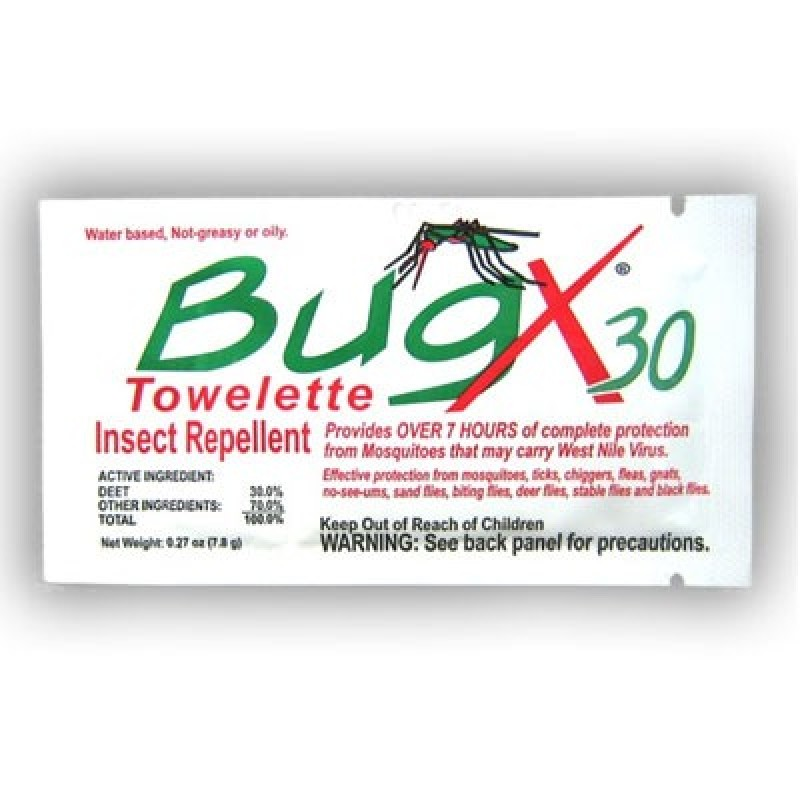 CoreTex BugX30 Bulk Pack Insect Repellent Towelettes 100/Box