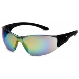 Pyramex Safety - Trulock - Black Frame/ Multi-Color Mirror Lens Polycarbonate Safety Glasses - 12 / BX
