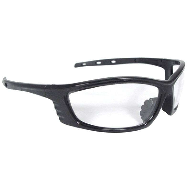 Black Frame Glasses Clear Lens : Radians Chaos Safety Glasses - Black Frame, Clear Lens ...