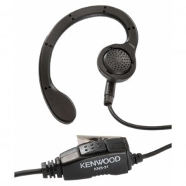 Headset with C-Ring Earpiece and Clip Microphone