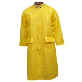 Tingley Webdri Coat Yellow 48ʺ 2 Patch Pockets Vented Cape Back Hood Snaps
