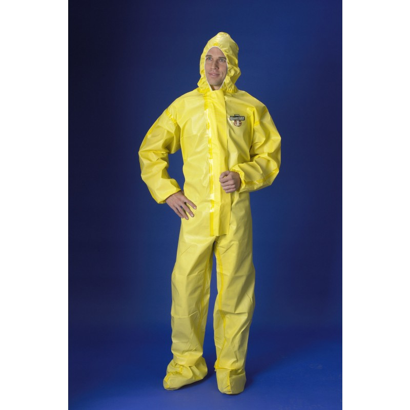ChemMax 1 Coverall - Sealed Seam - Hood & Attached Boots ( 6 per case)