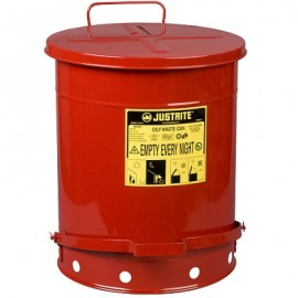 Red Oily Waste Can - 14 Gallon
