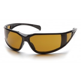 Pyramex  Exeter  Glossy Black Frame/Shooter's Amber AntiFog Lens  Safety Glasses  12/BX