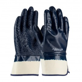 PIP 56-3147/L PIP Nitrile Dipped Glove with Terry Cloth Liner and Heavy Weight Rough Grip on Full Hand Plasticized Safety Cuff Large 6 DZ