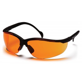 Pyramex Safety - Venture II - Black Frame/Orange Lens Polycarbonate Safety Glasses - 12 / BX