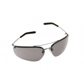 3M™ Metaliks™ Protective Eyewear 15171-10000-20 Gray Anti-Fog Lens, Polished Metal Frame 20 EA/Case