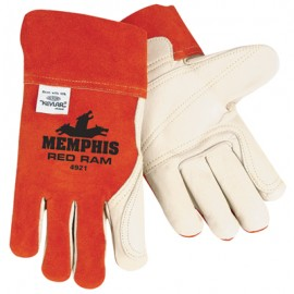 MCR Memphis Gloves Red Ram Welding Gloves 12 Pair Red Color