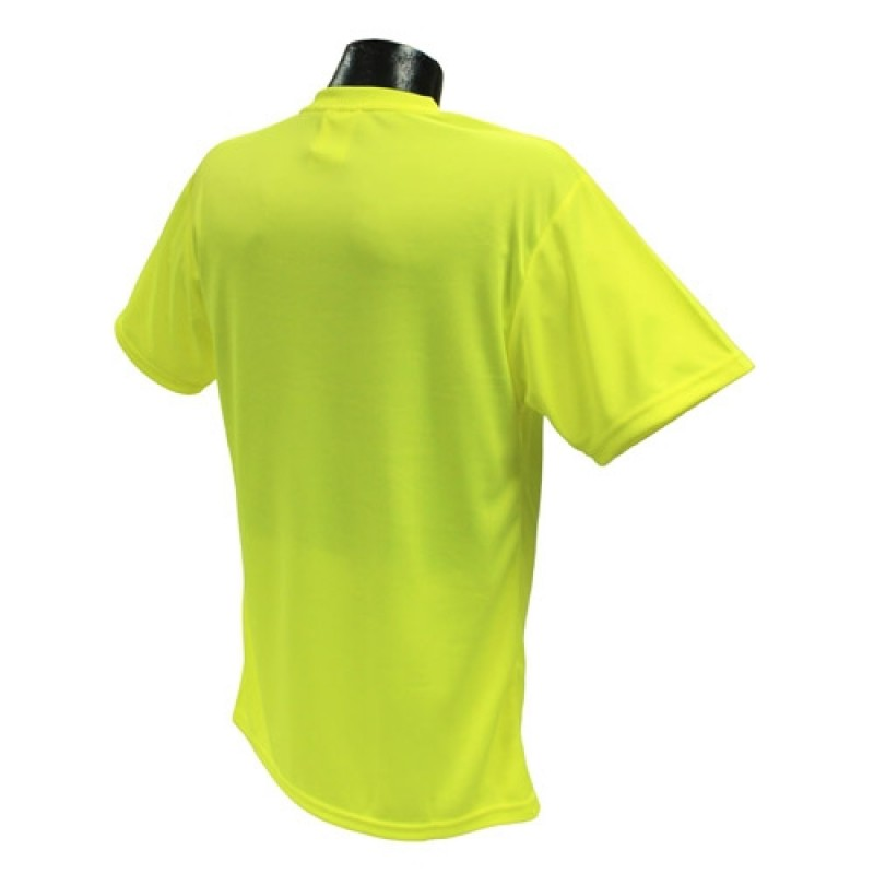 Radians ST11-N ST11-NPGS Non-Rated Short Sleeve Safety T-shirt with Max-Dri™ Green