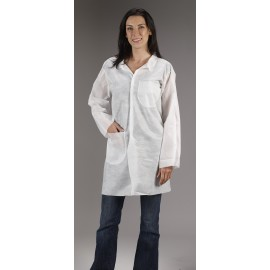 SafeGard Lab Coat - 2 Pocket (SMS) 30/Case