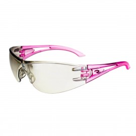 Radians Optima - I/O - PINK TEMPLES Safety Glasses Frameless Style Pink Color - 12 Pairs / Box
